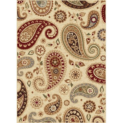 Barbarra Ivory Area Rug Rug Size: Rectangle 710 x 103