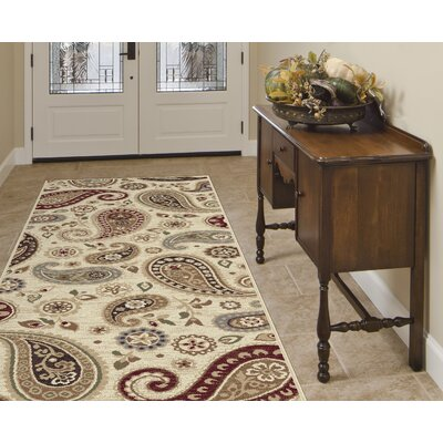 Barbarra Ivory Area Rug Rug Size: Runner 27 x 73