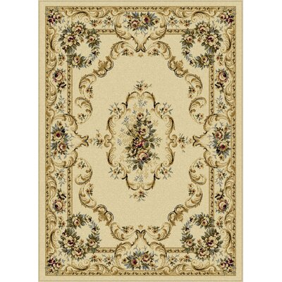 Grange Beige Area Rug Rug Size: Rectangle 93 x 125