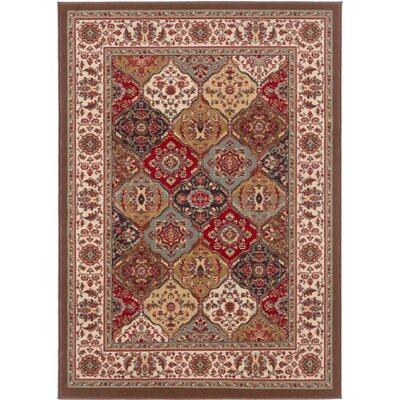 Colesville Brown Area Rug Rug Size: 5 x 7
