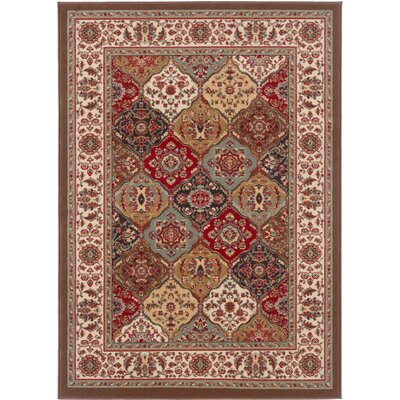 Larios Brown Area Rug Rug Size: Oval 53 x 73