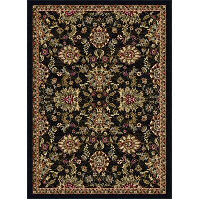 Pippins Black Area Rug Rug Size: Rectangle 93 x 126