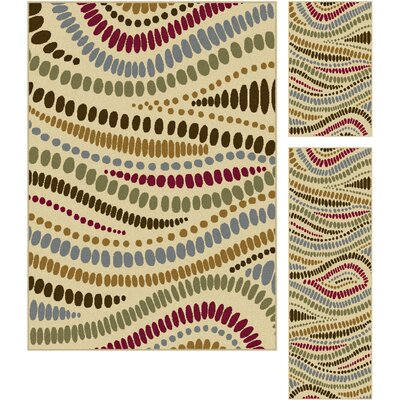 Josefina 3 Piece Beige Area Rug Set Rug Size: Rectangle 5 x 7