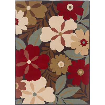 Strope Red/Brown 3 Piece Area Rug Set Rug Size: Rectangle 5 x 7