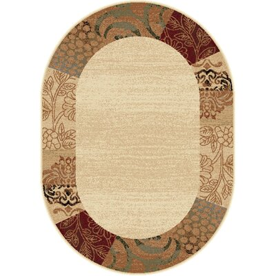 Litchford Ivory Area Rug Rug Size: Oval 53 x 73