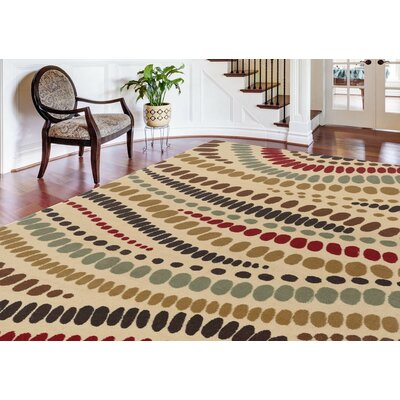 Josefina Beige Area Rug Rug Size: Rectangle 5 x 7