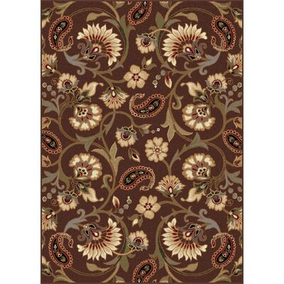 Bayou Brown Floral Area Rug Rug Size: Rectangle 76 x 910