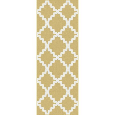 Ellicott Yellow Area Rug Rug Size: Runner 27 x 73