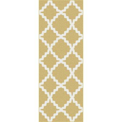 Ellicott Yellow Area Rug Rug Size: Runner 27 x 73