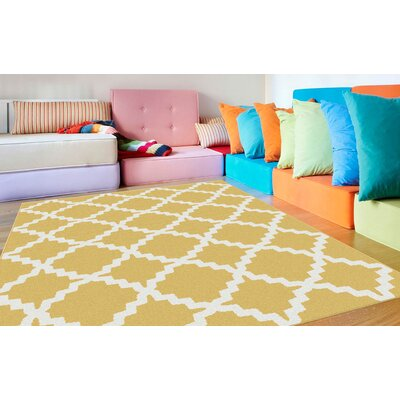 Ellicott Yellow Area Rug Rug Size: Rectangle 53 x 73