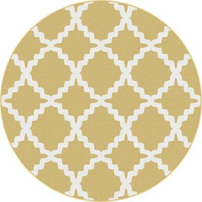 Ellicott Yellow Area Rug Rug Size: Round 710