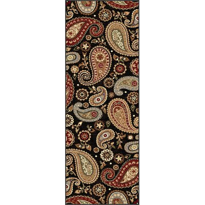 Barbarra Black Area Rug Rug Size: Runner 27 x 73