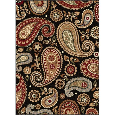 Barbarra Black Area Rug Rug Size: 53 x 73