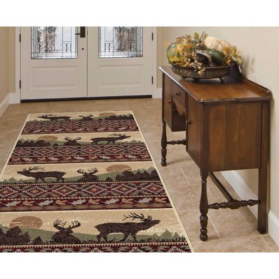 Alers Red/Brown Area Rug Rug Size: Runner 3 x 8