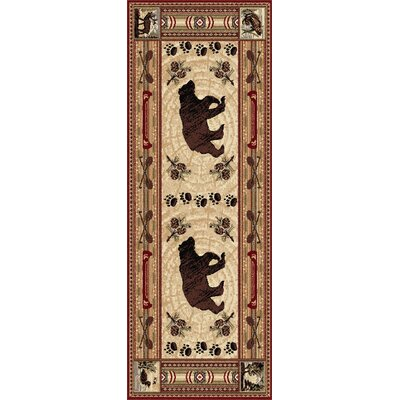 Russel Brown Area Rug Rug Size: Runner 3 x 8
