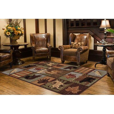 Alers Brown Area Rug Rug Size: Runner 3 x 8
