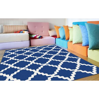 Brookville Blue Area Rug Rug Size: Rectangle 710 x 103