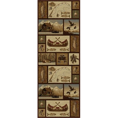 Brody Brown Area Rug Rug Size: Runner 27 x 73