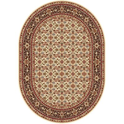 Richmond Ivory/Beige Area Rug Rug Size: Oval 53 x 73