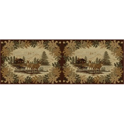 Meyers Brown/Beige Area Rug Rug Size: Runner 27 x 73