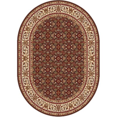 Richmond Brown Area Rug Rug Size: Oval 53 x 73