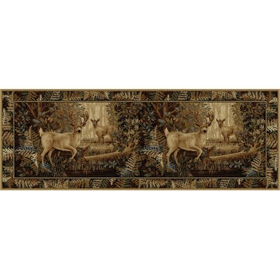 Altamont Beige/Brown Area Rug Rug Size: Runner 2'7