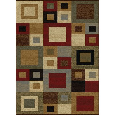 Colette Contemporary Red/Brown Area Rug Rug Size: 5 x 7