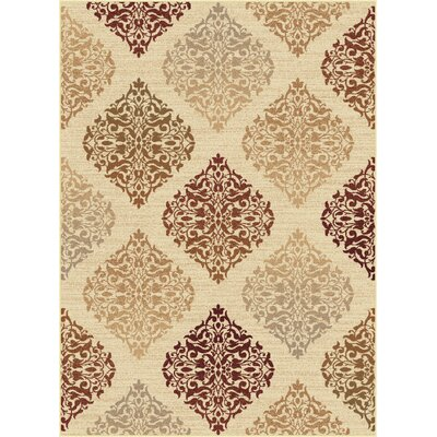 Barbarra Beige Area Rug Rug Size: Rectangle 53 x 73
