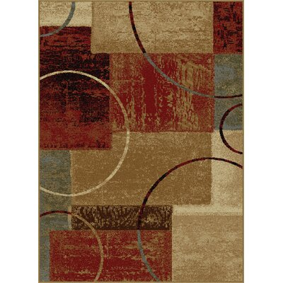 Colette Abstract Red/Brown Area Rug Rug Size: Rectangle 93 x 126