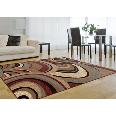 Barbarra Brown Area Rug Rug Size: Rectangle 710 x 103