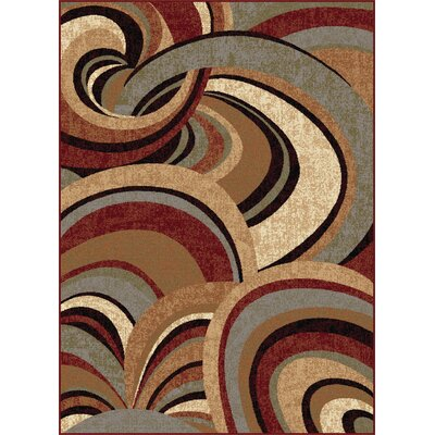 Barbarra Brown Area Rug Rug Size: 53 x 73