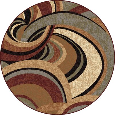 Barbarra Brown Area Rug Rug Size: Round 53