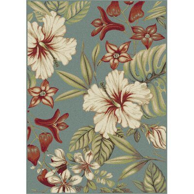 Murphy Teal Area Rug Rug Size: Rectangle 2 x 3
