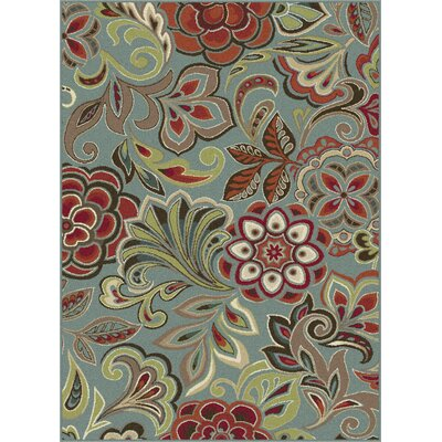 Berwick Grey/Green Area Rug Rug Size: 710 x 103