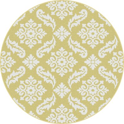 Brookville Yellow Area Rug Rug Size: Round 710
