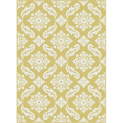 Brookville Yellow Area Rug Rug Size: 53 x 73