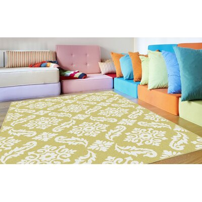 Brookville Yellow Area Rug Rug Size: Rectangle 53 x 73