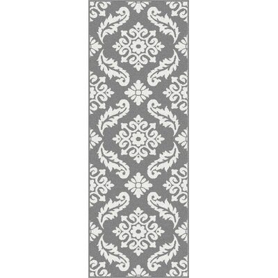 Brookville Gray Area Rug Rug Size: Runner 27 x 73