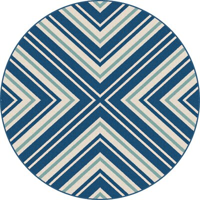 Martinique Navy Indoor/Outdoor Area Rug Rug Size: Round 710
