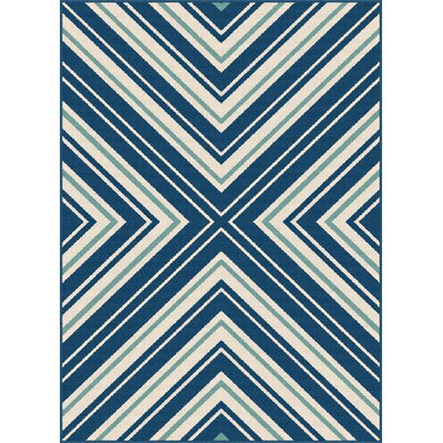Martinique Navy Indoor/Outdoor Area Rug Rug Size: Rectangle 710 x 103