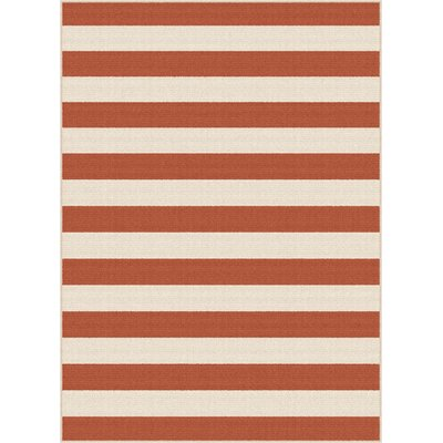 Fairhaven Terracotta/Beige Indoor/Outdoor Area Rug Rug Size: 53 x 73