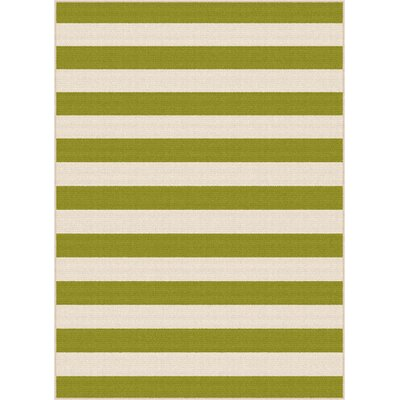 Fairhaven Green/Cream Indoor/Outdoor Area Rug Rug Size: 53 x 73