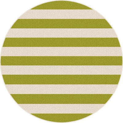 Martinique Green/Cream Indoor/Outdoor Area Rug Rug Size: Round 710