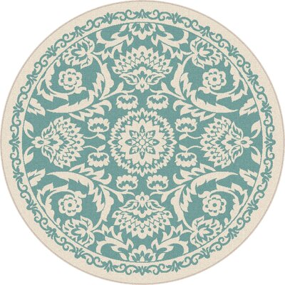 Bryson Blue Indoor/Outdoor Area Rug Rug Size: Round 7'10