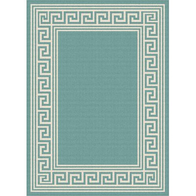 Martinique Aqua Indoor/Outdoor Area Rug Rug Size: Rectangle 53 x 73