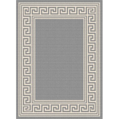 Martinique Gray Indoor/Outdoor Area Rug Rug Size: Rectangle 710 x 103