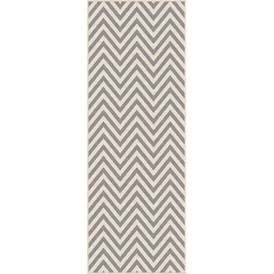 Martinique Gray/Cream Indoor/Outdoor Area Rug Rug Size: Runner 27 x 73