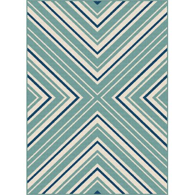 Martinique Aqua Indoor/Outdoor Area Rug Rug Size: Rectangle 710 x 103