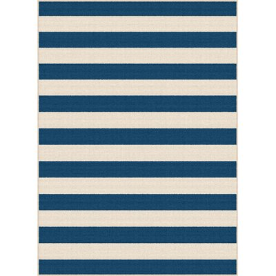 Fairhaven Navy/Cream Indoor/Outdoor Area Rug Rug Size: 53 x 73