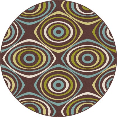 Eichorn Outdoor Indoor/Outdoor Area Rug Rug Size: Round 710